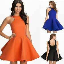 Sexy Lady Bubble Ruffle Frill A-Line Vest Skater Eve Party Cocktail Club Dress B