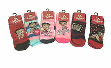 LADIES & GIRLS BETTY BOOP SOCKS UK SIZE 4-8 - CHOOSE YOUR DESIGN!