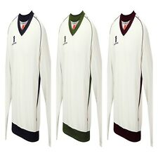 New Surridge Mens Fleeced Cricket Sweater Long Sleeve Jumper Top Size YTH-XL