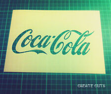 Coca Cola reusable STENCIL / Coke stencil for interior decor / Not a decal