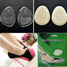 1 Pair High Heel Silicone Gel Cushion Insoles Front Pad Feet Shoe Foot Care YX