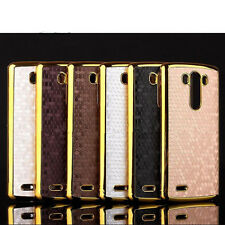 Slim cool fashion PU Leather Skin Protector Back Phone Cover Case For LG Phone
