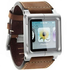 Multi-Touch Leather Wrist Strap Watch Band Cover For iPod Nano 6th 6 Generation