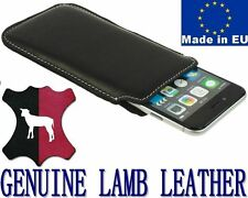 POCKET CASE COVER HANDMADE REAL GENUINE LAMB LEATHER POUCH - RANGE PHONE MODELS