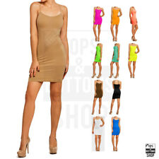 Sofra Women's Long Tunic Mini Dress Camisole Spaghetti Strap Tank Tops One Size