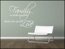 Wall Sticker Family Quote Decorative Mural Kitchen Lounge Sticker Decal