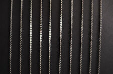 Link Necklaces - Bulk Wholesale 316L Stainless Steel Silver Tone Chains - 18""