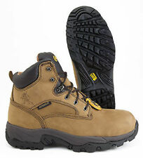 Chippewa Apache Composite Toe Brown Leather Waterproof Work Safety Boot 55161