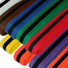 New Taekwondo Belt Karate Judo Jiu jitsu Martial Arts Color Belt w/ Black Stripe