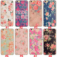 For Apple Iphone 6/6 Plus Various Flower Pattern PC Hard Case Cover Back Skin -N
