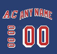 New York Rangers Home Jersey Customized Number Kits un-sewn