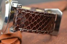 MA WATCH STRAP 22 + 20 MM REAL PYTHON SNAKE LEATHER HANDMADE SPAIN BAND BROWN