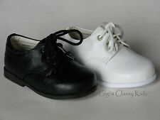 New Baby Toddler Boys White Black Dress Shoes Christening Baptism Dedication