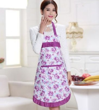 Fashion Women's Housewife Kitchen Aprons Convenient Floral Cook Restaurant Chef