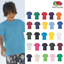 Fruit of the Loom FOTL - Kids Valueweight Tee Light Lightweight Plain T-shirt