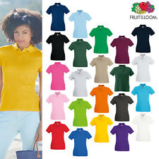 Fruit of the Loom FOTL - Women's Lady-fit Premium Short Sleeve Polo Shirt Top
