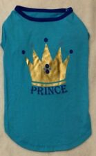 PRINCE OR PRINCESS Dog Shirt w/ Crown -Blue or Pink - XS S S/M -Zack & Zoey -NEW