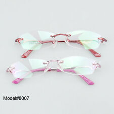 8007 Quality women fashionable rimless optical frames eyeglasses myopia eyewear