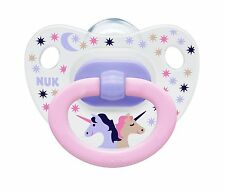 Nuk Happy Kids Silicone Soother Size 1 (0-6m) / Size 2 (6-18m)