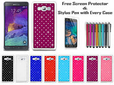 Diamond Sparkly Gem Bling Chrome Back Case Cover For Samsung Galaxy A7 A700F UK