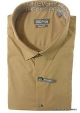 Kenneth Cole Reaction Mens Regular Fit Dress Shirt Khaki Colored Stretch