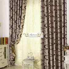 QUALITY BLOCKOUT EYELET CURTAINS CURTAIN DOUBLE SIDE PATTERN BROWN LATTE