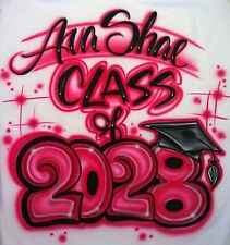 Airbrushed Custom T-shirt or Onesie  Graduation Class of ... 15 16 17 Year