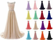 Long Formal Chiffon Evening Cocktail Prom Dress Wedding Party Bridesmaid Gowns