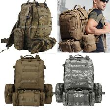 65L Outdoor Camping Hiking Army Military Tactical Molle Assult Backpack Rucksack