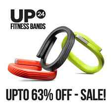 Jawbone UP24 Fitness / Sleep Tracker Onyx ( Black ), Red & Lime | Medium UP 24