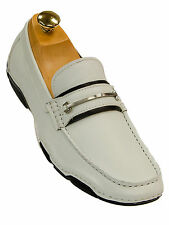 Kenneth Cole Mens White Boat Slip On Dress Casual Trending Nautical Loafer Shoe