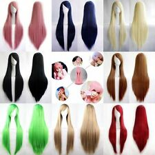 Fashion Women's Wigs Multicolor Long Straight Anime Cosplay Party Wig 80cm New