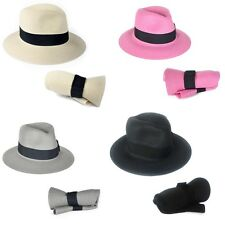 vintage men Fedora Trilby Derby Hat straw Broner brim gentleman summer hat