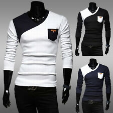 Tops Men's Casual Slim Fit V-neck Knitted Cardigan Pullover Jumper Sweater 3ew