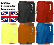 Mens GYM Plain Jersey Summer Shorts Light weight Baggy Fit with Zip Pockets New