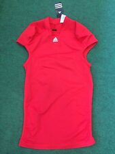 NEW Adidas Tech Fit Compression Spandex Shockweb Football Jersey 7563a RED Blank