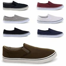 MENS CANVAS PLIMSOLLS SLIP ON PLIMS ESPADRILLES TRAINERS SHOES PUMPS LOAFERS