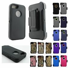 Apple iPhone 5/5S/SE Defender Protective Case Series w/Clip & Screen Protector