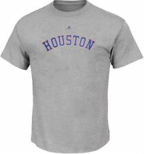 Houston Astros MLB Majestic Classic Mens T Shirt Gray Size 4XL