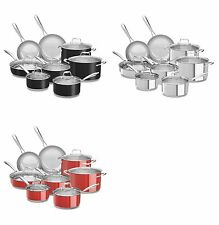 Kitchen Aid Stainless Steel Cookware 14 Piece Set Assorted Colors New