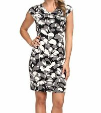 NWT MSRP $138 TOMMY BAHAMA Bluebell Blossoms Dress, Black, Medium M or Large L