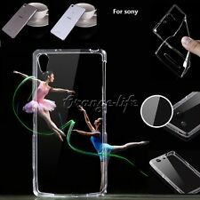 For Sony Phones Ultra-Thin Crystal Clear Transparent Soft TPU Gel Cover Case
