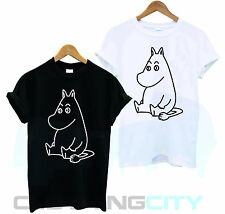 MOOMIN ANIME 1990 CARTOON HIPPO RETRO FUNNY LITTLE MY SNUFKIN T SHIRT TSHIRT TEE