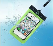 """6"""" Cell phone Waterproof Pouch Bag Case +Neck Armband Strap Compass for iphone 6"""
