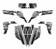 Can am Commander graphics wrap kit for 800 1000 R XT #3333 Gray Metal