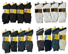 12 PAIRS MENS 100% COTTON ANTI-BACTERIAL SOCKS 6-11 BLACK LOT NEW