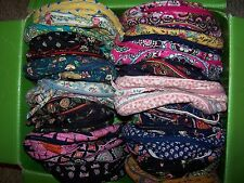 VERA BRADLEY HOME AWAY ROUND COSMETIC QUILTED COTTON L@@K RARE HTF