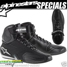 Alpinestars Faster Ride Shoes Black Motorcycle Road Bike Racing Boots Track