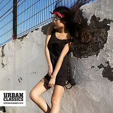 Urban Classics TB904 Damen Tank Top langes Shirt Sommer Mode Rock Kleid Neu