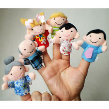 Baby Kids Children Finger Toys Puppet Soft Plush Smart Development Gifts 6-10Pcs